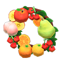 Animal Crossing couronne fruits