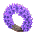 Animal Crossing couronne jacinthes mauves