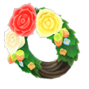 Animal Crossing couronne roses