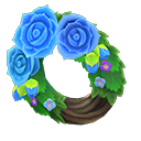 Animal Crossing couronne roses bleues