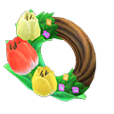 Animal Crossing couronne tulipes