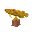 Animal Crossing arowana en or
