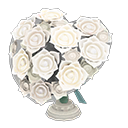 Animal Crossing bouquet en forme de cœur