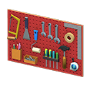 Animal Crossing panneau mural porte-outils