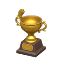 Animal Crossing trophée pêche or